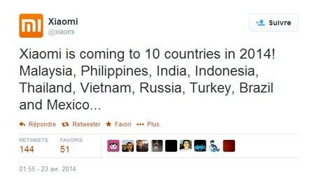 Xiaomi cũng thông báo về kế hoạch của mình trong việc mở rộng thị trường.