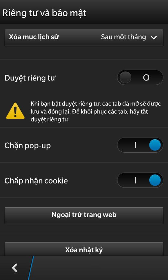 mẹo dùng z10, blackberry 10, trình duyệt chrome, trình duyệt di động, z10 giảm giá