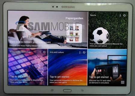 Nút Home ở mặt trước Galaxy Tab S được tích hợp cả chức năng cảm biến vân tay