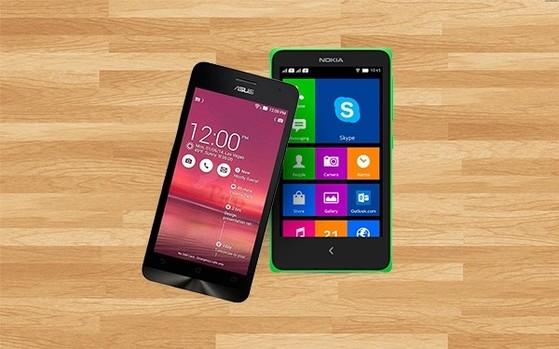 Zenfone 5 và Nokia XL có thể sẽ là đại diện cho một thế hệ smartphone giá rẻ mới. Ảnh: Mai Nguyên.