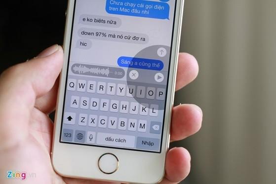 iOS 8 beta 2 sẽ chỉnh sữa lỗi so với bản đầu tiên. Ảnh: Quốc Huy.