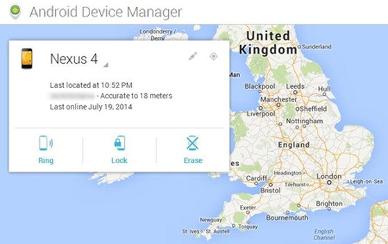smartphone bị mất, Android, Android Device Manager