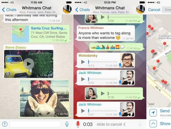 facebook messenger, nhắn tin miễn phí, whatsapp, skype, snapchat, twitter