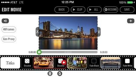 Giao diện của ứng dụng Vizzywig 4K