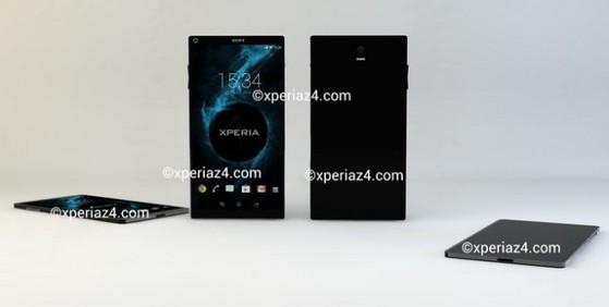 Ảnh thiết kế (không chính thức) được cho là của Sony Xperia Z4 giới thiệu trên trang XperiaZ4.com