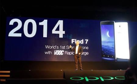 Oppo đưa công nghệ sạc nhanh VOOC từ Find 7 vào bộ đôi mới lần này