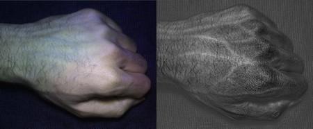 Hình ảnh mạch máu bên dưới tay người được HyperCam chụp lại