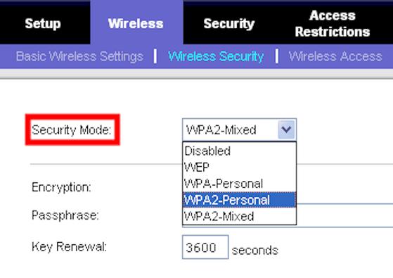security-mode