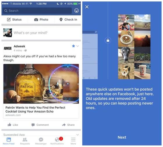 Facebook Quick Updates