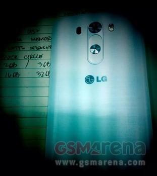 Hình ảnh mặt sau của LG G3 đã bị rò rỉ từ trước đó