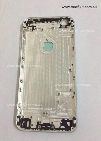 Hình ảnh linh kiện lớp vỏ mặt sau của iPhone 6 bị rò rỉ trên Internet