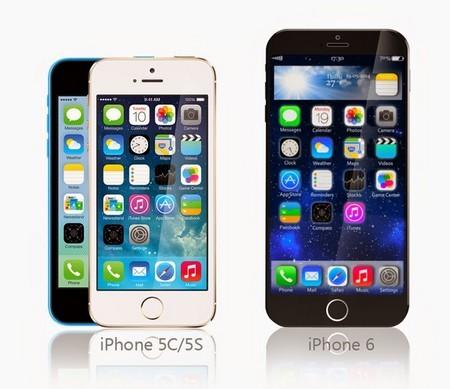 So sánh ý tưởng thiết kế iPhone 6 với iPhone 5S/5C