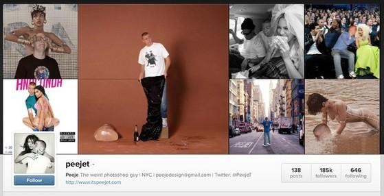 Nổi như cồn trên Instagram vì chăm ghép ảnh cùng sao 1