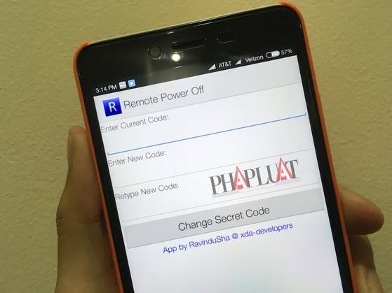 Tắt smartphone từ xa nhờ ứng dụng Remote Power Off