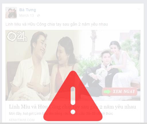 Tự động cảnh báo các trang facebook giả mạo