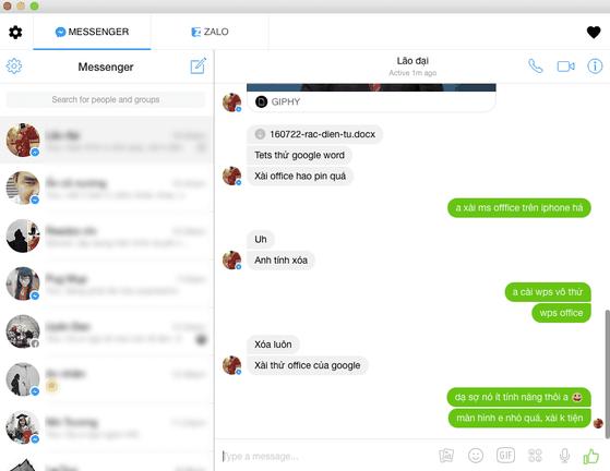 Đăng nhập nhiều tài khoản trên All-in-One Messenger