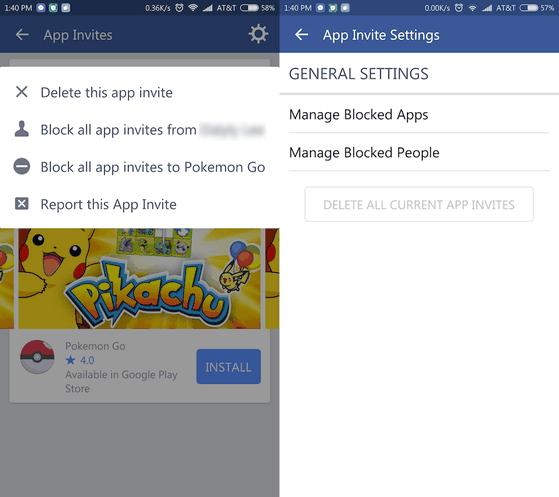 Chặn các lời mời chơi game trên Facebook