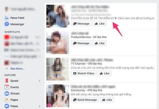 Phim ảnh khiêu dâm xuất hiện tràn lan trên Facebook