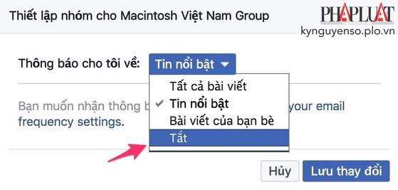 Mẹo tắt bớt các thông báo phiền phức trên Facebook