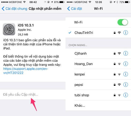 Apple phát hành iOS 10.3.1 để sửa lỗi Wi-Fi