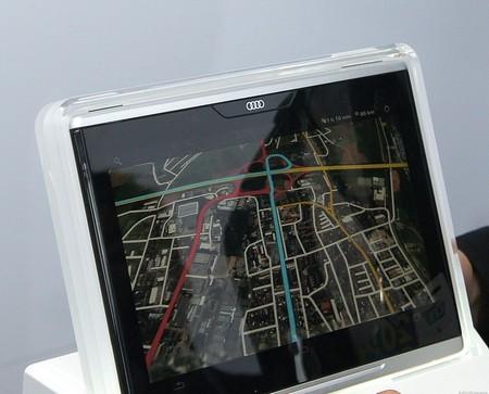 Hệ thống định vị dẫn đường hiển thị trên máy tính bảng của Audi