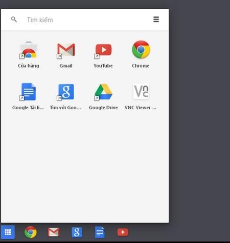 Giao diện theo phong cách Chrome OS của trình duyệt Chrome trên Windows 8