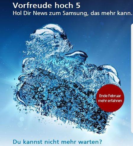 Hình ảnh giới thiệu về sản phẩm mới của O2, nhiều khả năng là Galaxy S5