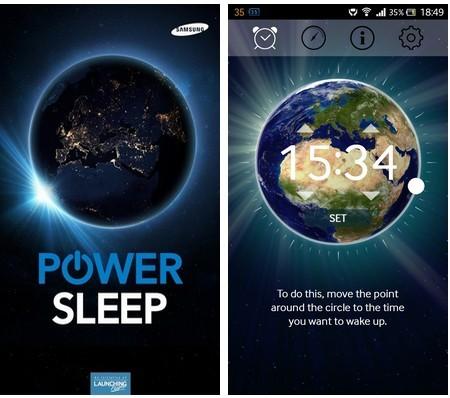 Power Sleep cho phép thiết lập thời gian để kết nối và khai thác sức mạnh trên smartphone