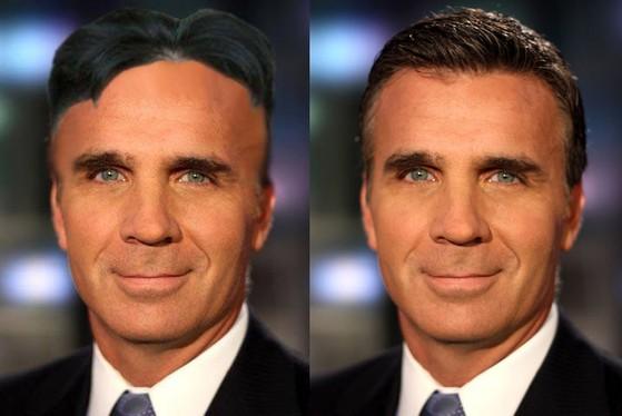 Ngôi sao truyền hình Mỹ Steve Eagar thay bộ tóc bóng mượt bằng phong cách Kim Jong-un.