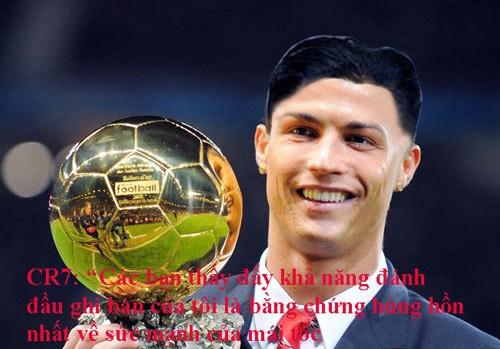 Nhận Quả bóng Vàng nhưng Cristiano Ronaldo vẫn phải trung thành với kiểu tóc của Kim Jong-un.
