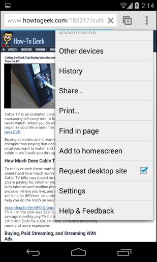 mẹo dùng trình duyệt Chrome trên iPhone, iPad, tablet và smartphone Android