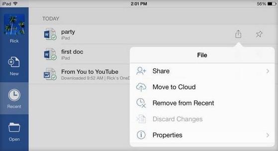 Cách dùng Office cho iPad