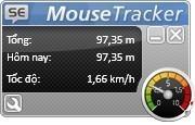 Thú vị phần mềm đo tốc độ và tổng quãng đường rê chuột trên máy tính