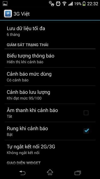 Thủ thuật quản lý và theo dõi dung lượng mạng 3G sử dụng trên Android