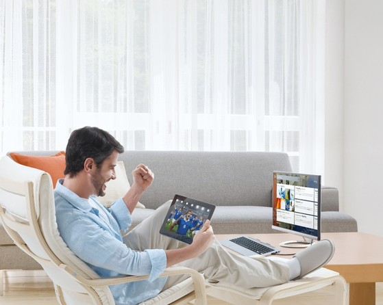 Trio, một trong những sản phẩm lai tiêu biểu: vừa là tablet, vừa là laptop, vừa là PC
