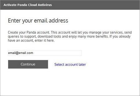 """Bước tiếp theo, điền địa chỉ email vào hộp thoại rồi nhấn nút """"Continue""""."""