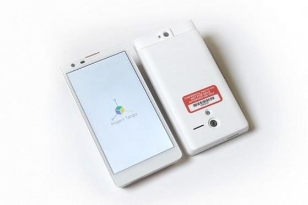 Thiết kế của nguyên mẫu smartphone được áp dụng công nghệ của Project Tango
