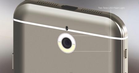 Đèn flash kép được thiết kế bo tròn camera