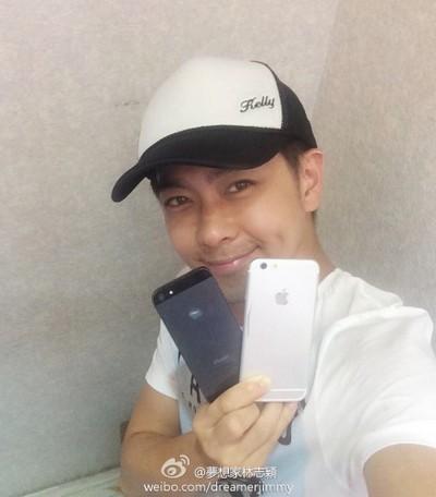 Hình ảnh iPhone 6 trên tay ngôi sao người Đài Loan