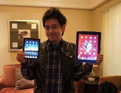 """Hình ảnh iPad cỡ nhỏ được Lâm Chí Dĩnh """"khoe"""" hồi năm 2010 và khẳng định đây là iPad 2"""