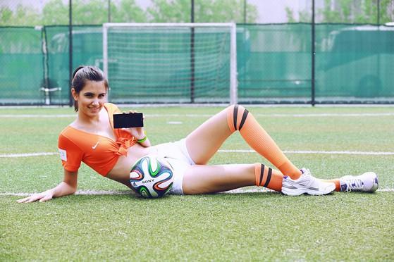 Hotgirl, World Cup, smartphone