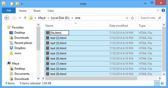 đổi tên file hàng loạt, thủ thuật, windows