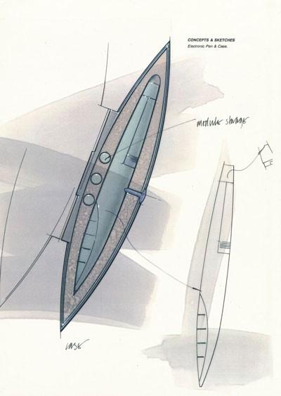 Đây là bản phác thảo đầu tiên của Ive được vẽ bằng bút điện tử