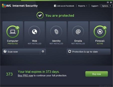Giao diện mới trên AVG Internet Security