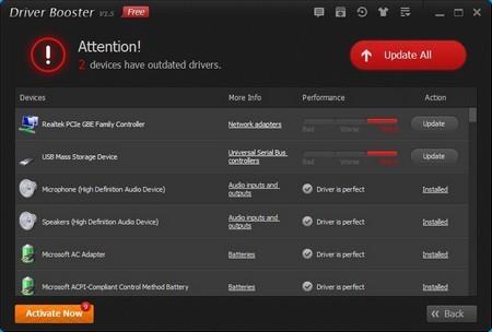 Giao diện phần mềm Driver Booster trên Windows 10 Technical Preview