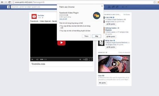 Trang giả mạo Facebook lừa tải thêm plugin để xem video, thực chất là tải mã độc - Ảnh: Facebook Nguyễn Minh Đức