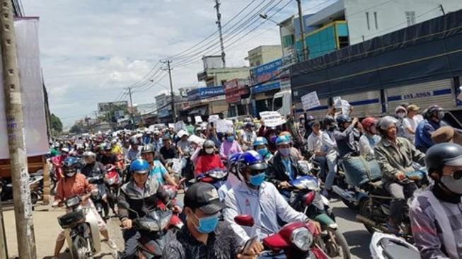 Tạm giữ hình sự 18 người gây rối ở Đồng Nai