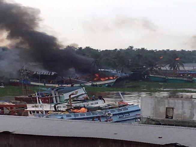 Đầu năm, cháy tàu cá thiệt hại tiền tỉ