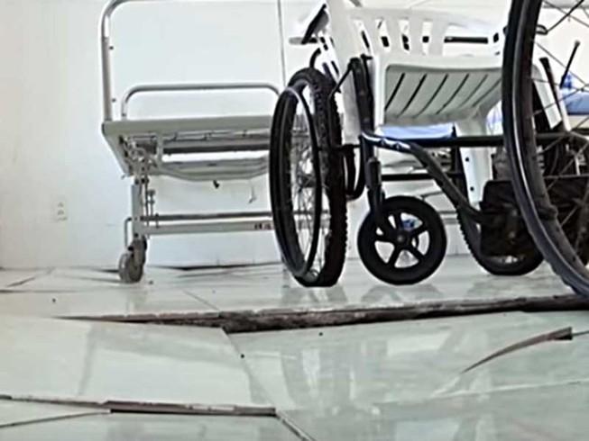 Phòng khám đa khoa Mũi Né lún sụp nguy hiểm