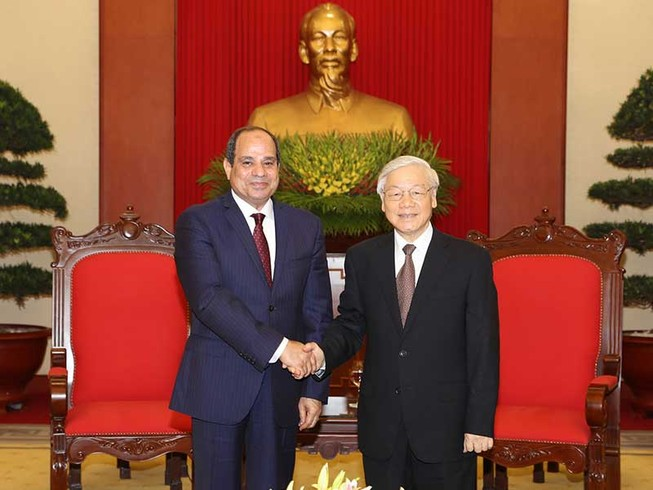 Tổng Bí thư Nguyễn Phú Trọng tiếp Tổng thống Ai Cập